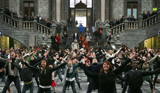 Finding New Sensation From A Flash Mob